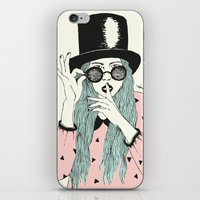 hat iPhone & iPod Skins featuring  ''Hat'' by Indi Maverick