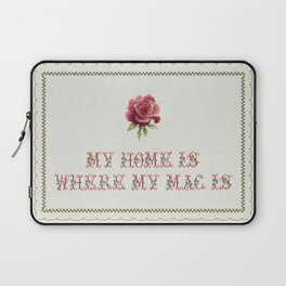 My Home Is - Vintage By Totalia Laptop Sleeve