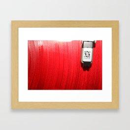 Red Vinyl Framed Art Print