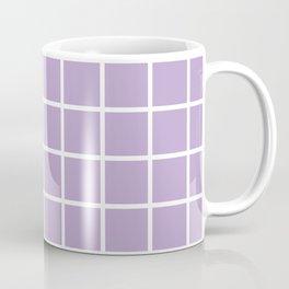 Lavender Grid Pattern2 Coffee Mug