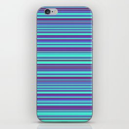 Blue Purple Candy Lines iPhone Skin