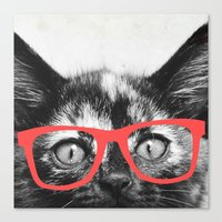 sassy Canvas Prints featuring Sassy Kitten by Allyson Johnson