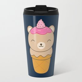 Kawaii Bear Ice Cream Cone Travel Mug