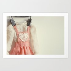 Doll Closet Series - Heart Dress Art Print