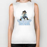 the legend of korra Biker Tanks featuring Korra by HelloTwinsies