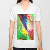 graffiti V-neck T-shirts featuring Graffiti  by Shannon Curtis