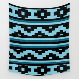 Etnico blue version Wall Tapestry
