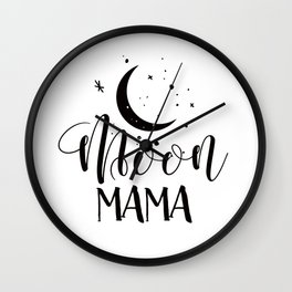 MOON MAMA Wall Clock