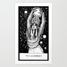 The Hierophant Tarot Art Print
