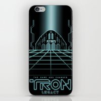 tron iPhone & iPod Skins featuring Tron Legacy by Yuri Meister