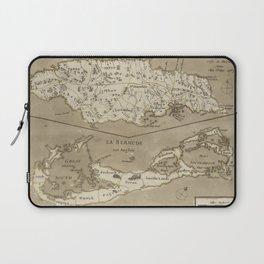 Vintage Map of Bermuda and Jamaica (1767) Laptop Sleeve