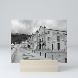 Near the Beach in Nazare BW Mini Art Print