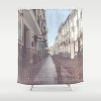 spain Shower Curtains featuring Madrid, Spain by Jane Lacey Smith