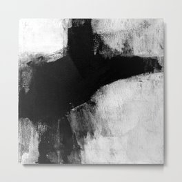 Black and White Minimalist Landscape Metal Print