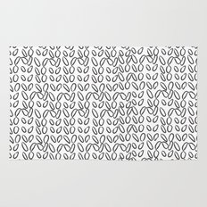 Knitting Knit Pattern - Doodle - Black and White Ink Rug