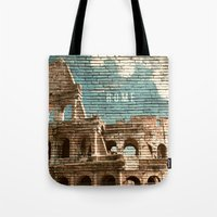 rome Tote Bags featuring Rome by Snaps Between Naps