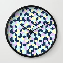 Jagged Colour Jumble Wall Clock