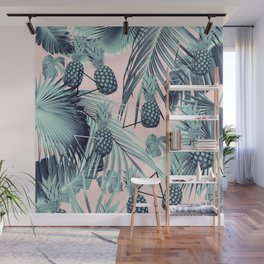 Tropical Pineapple Jungle Geo #2 #tropical #summer #decor #art #society6 Wall Mural
