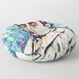 Giacomo Puccini (1858 – 1924) digitized photography Floor Pillow