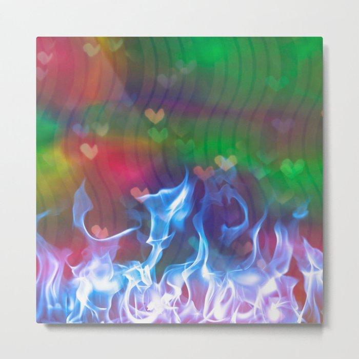 Burning Love Metal Print