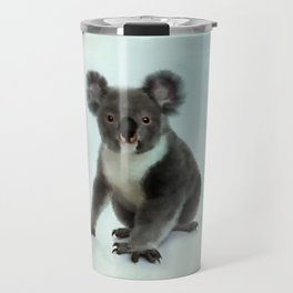 Koala Bear Digital Art Travel Mug