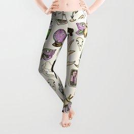 WITCH pattern • in bone Leggings
