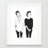 matty healy Framed Art Prints featuring Matty by girlwiththetea