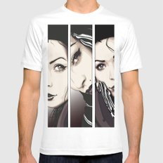 Miradas MEDIUM Mens Fitted Tee White