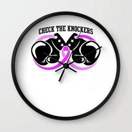 Naughty Breast Cancer Awareness Art For Women Light Wall Clock
