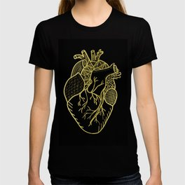 Designer Heart Gold T-shirt