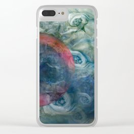 """""""Saturn's pink astral fluid"""" Clear iPhone Case"""