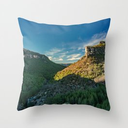 Mountain Landscape in Spain Throw Pillow