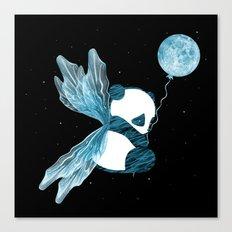 Space Angel Panda Bear - blue Canvas Print