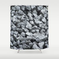 black and gold Shower Curtains featuring Black Gold by Marina Scheinost