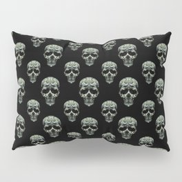 Skulls Motif Print Pattern Pillow Sham