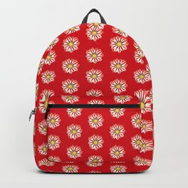 African Daisy / Gazania - Red and White Striped Backpack