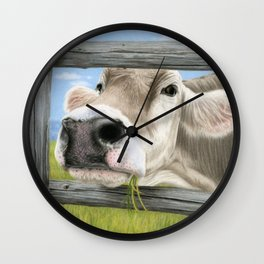 Don't Fence Me In Wall Clock