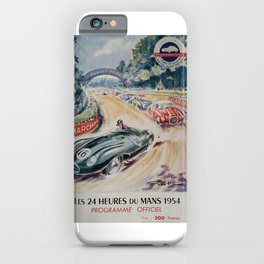 1954 Le Mans poster, Race poster, car poster, programme officiel iPhone Case