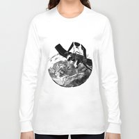 planes Long Sleeve T-shirts featuring paper planes by Rzuud