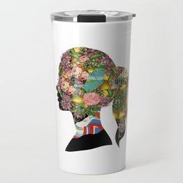 Flowery Girl Travel Mug