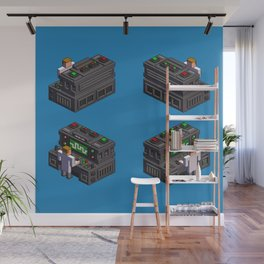 Science — isometric pixel art Wall Mural