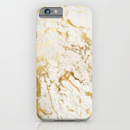 Gold marble iPhone & iPod Case