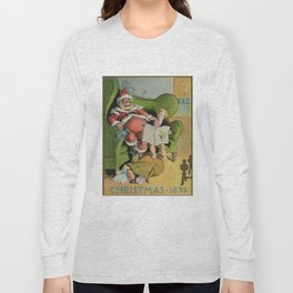 Vintage Santa Claus on Christmas Eve (1896) Long Sleeve T-shirt