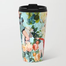 Floral and Pin Up Girls II Pattern Travel Mug