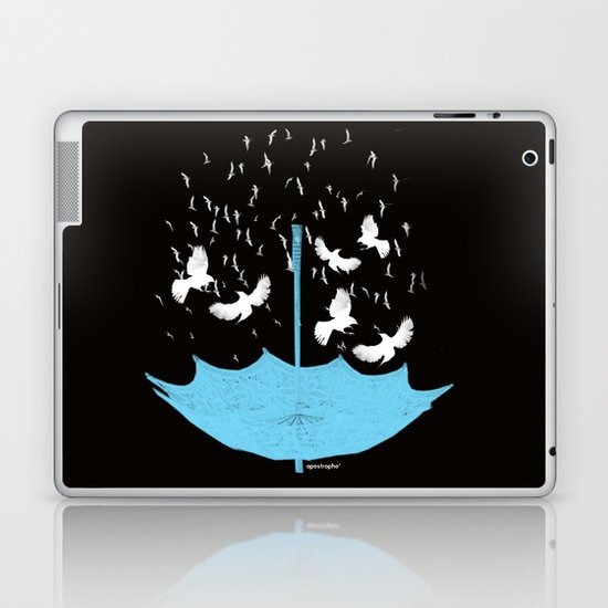 Umbrella Birds Laptop & iPad Skin