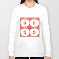 apple Long Sleeve T-shirts featuring apple by ottomanbrim