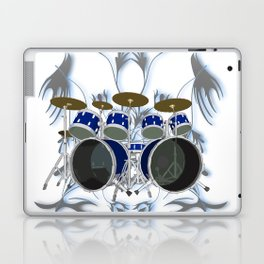 Drum Kit with Tribal Graphics Laptop & iPad Skin
