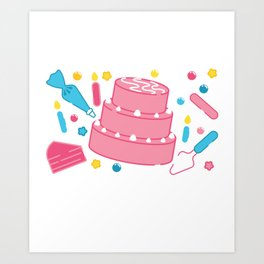 Funny Cake Decorating I Can't I Have Cakes To Decorate product Art Print