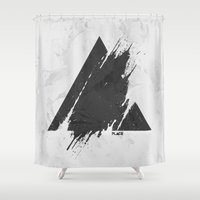 deadmau5 Shower Curtains featuring PLACE Triangle by Sitchko Igor