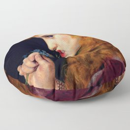 "Anthony Frederick Augustus Sandys ""Love's Shadow"" Floor Pillow"